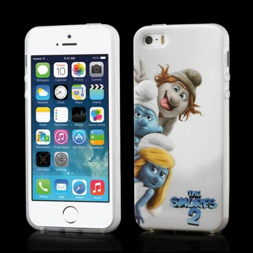 Smurf cover The Smurfs 2 voor iPhone 5 en 5S #covermaniabe #iphonehoesje #iphonecover www.cover-mania.be