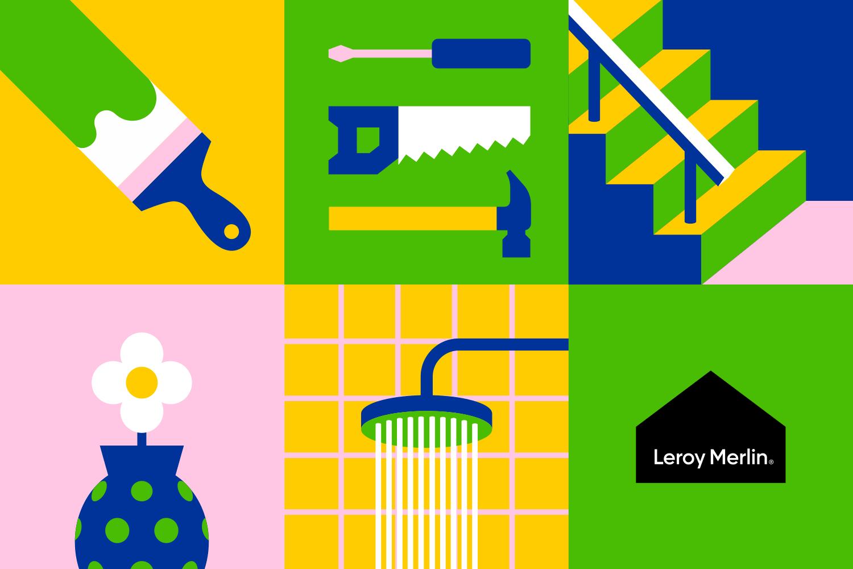 Leroy Merlin On Behance Branding Design Visual Identity Design Brand Inspiration Board