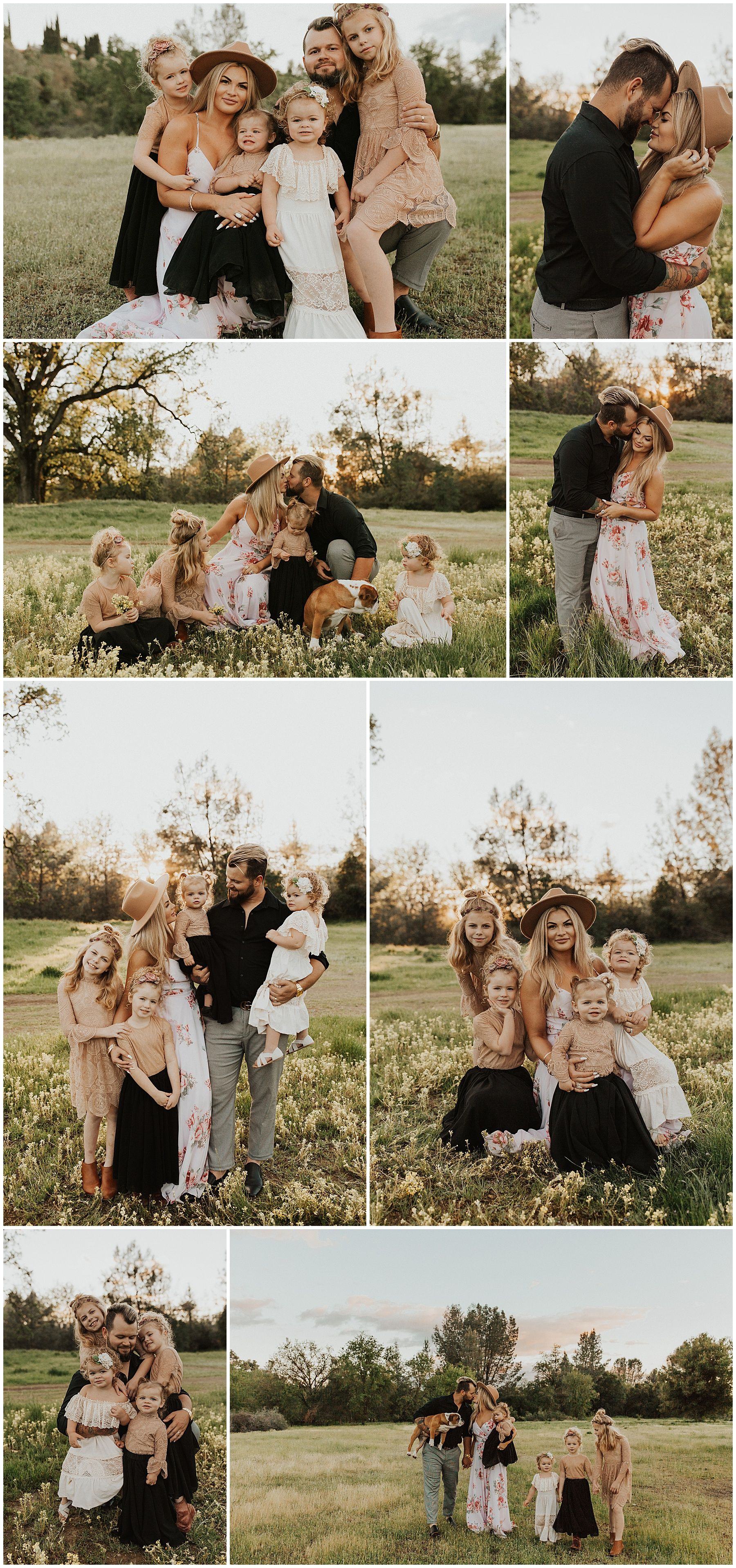 Boho Family Session | Family Session of Six