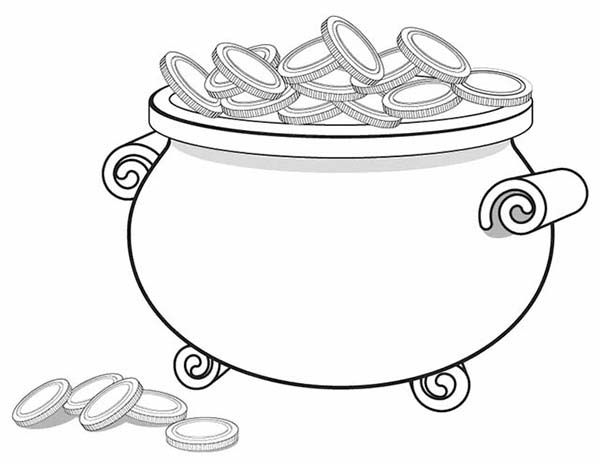 Pictures Of Coins To Print Coins Coloring Page A Giant Pot