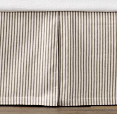 Vintage Ticking Stripe Skirt | Bed Skirts | Restoration Hardware Baby & Child