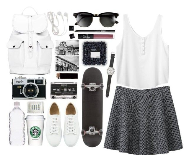"""""""#16"""" by another-sonya ❤ liked on Polyvore featuring J.Crew, Monki, Asya Malbershtein, Ray-Ban, Bobbi Brown Cosmetics, Mom2mom, NARS Cosmetics, French Connection, women's clothing and women"""
