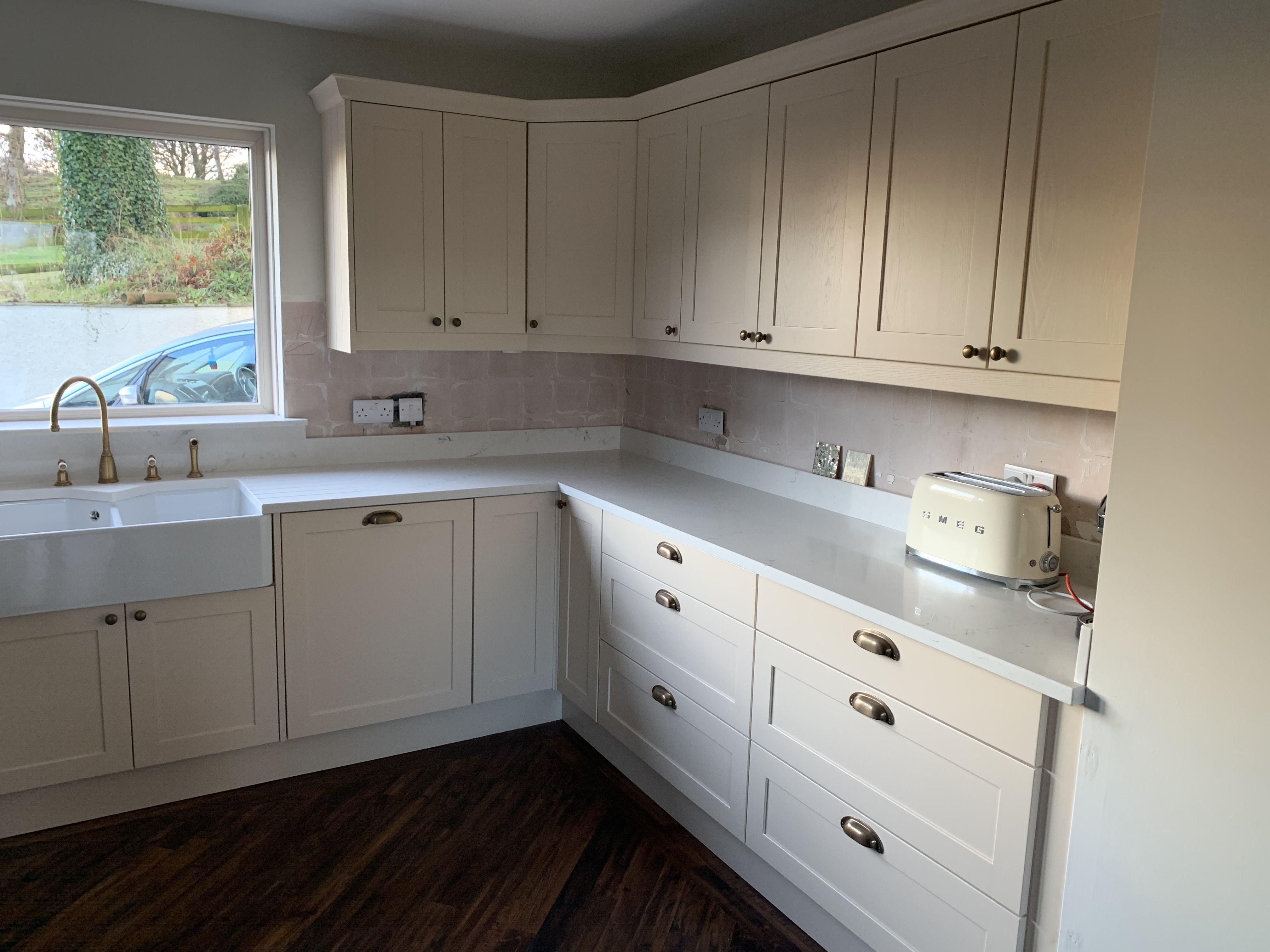 The Buttermilk doors in this kitchen were a bespoke colour ...