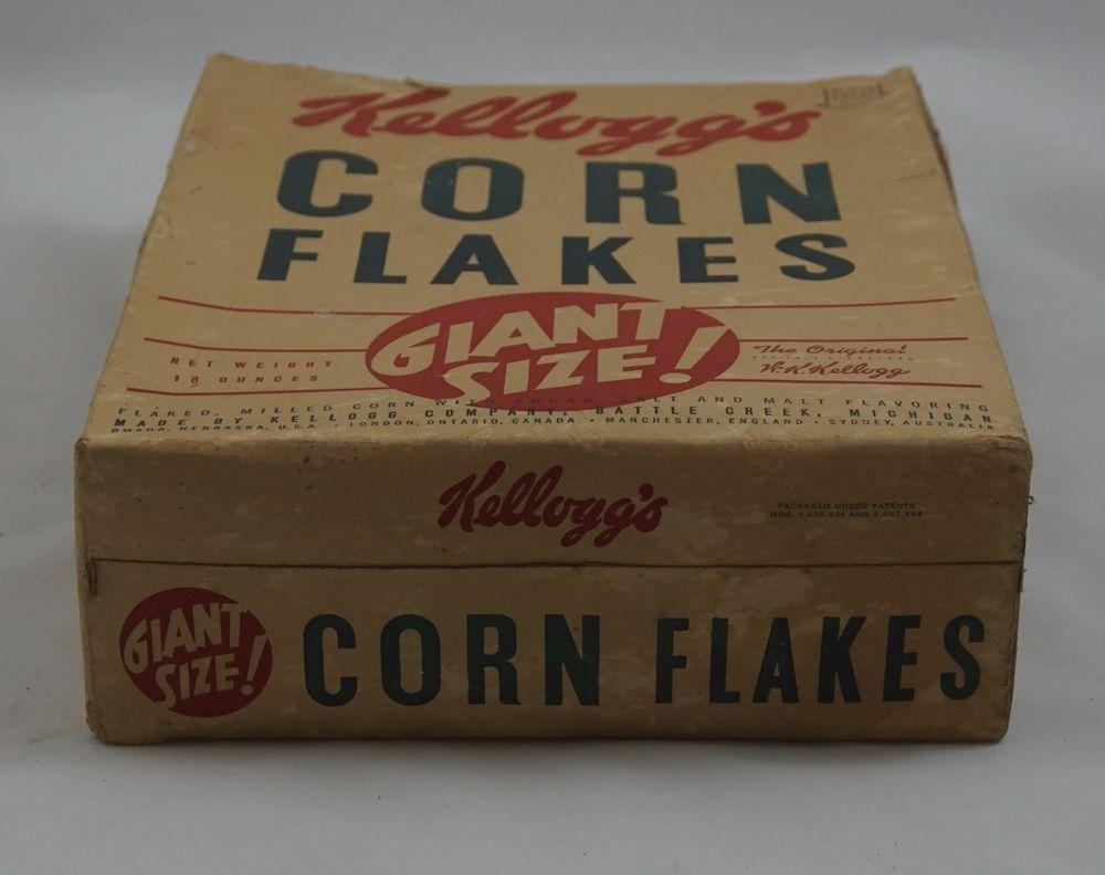 "Vintage KELLOGG'S Corn Flakes Box Back ""Fun with Kellogg's Kids"" Comic #KelloggsCornFlakes"
