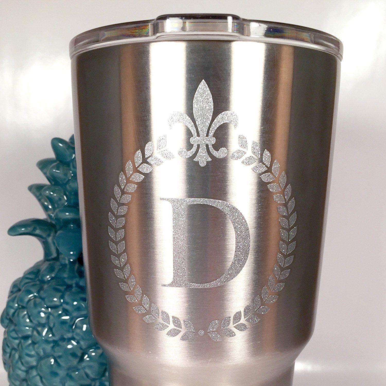 Fleur De Lis Decal for Yeti water bottle Tumbler