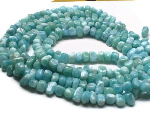 Yummy Larimar nuggets beads!
