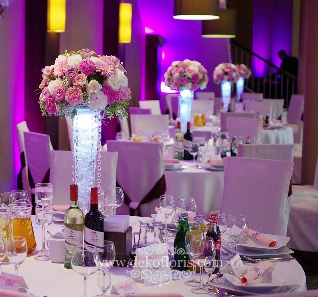 Rozowe Kwiaty Na Stoly Wesele Arkas Proszkow Wedding Decorations Wedding Inspo Wedding