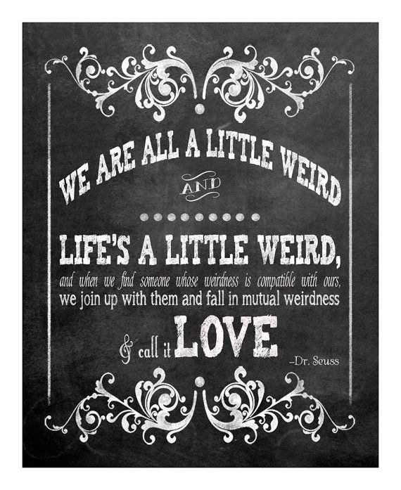 Quote Chalkboard Wedding Sign