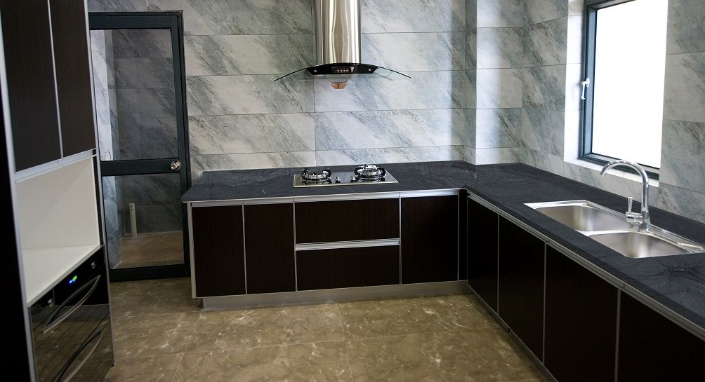 Brilliant Black Quartzite Kitchen Counter Top Darkquartzite