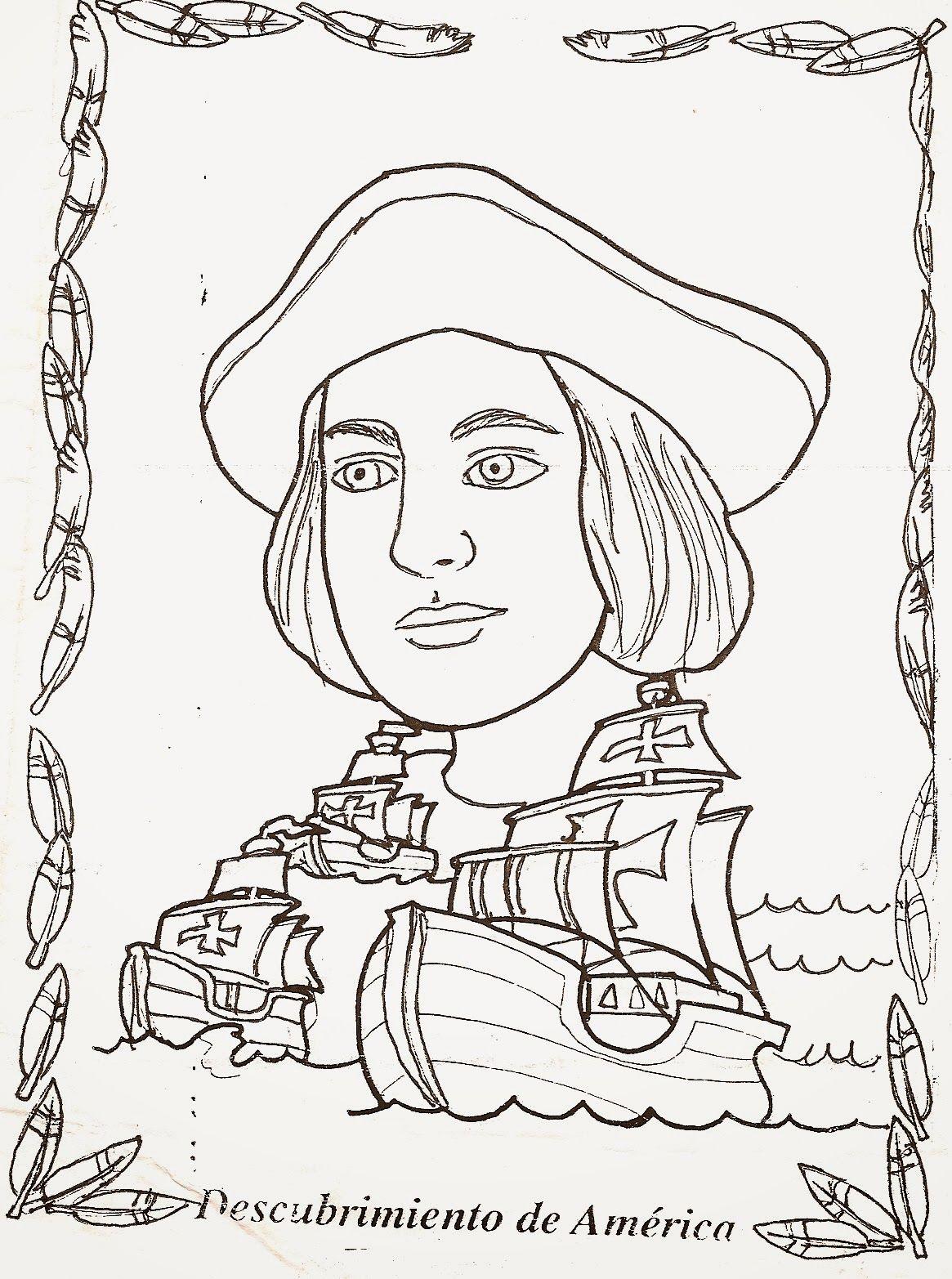 Dibujos de Cristobal Colon para Colorear … | Sociales | Pinterest ...