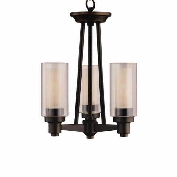 Kichler Lighting 3743OZ Circolo 3 Light Olde Bronze Semi Flush Mount