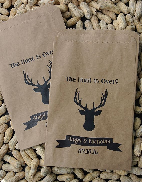 Rustic Favor Bags Deer Head Favors Peanut Bags Fall Favor Bags