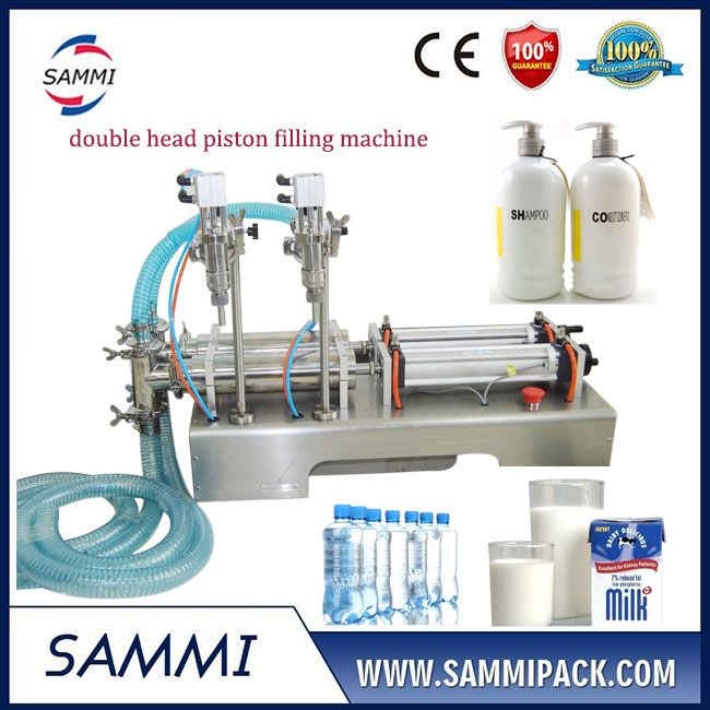 Economical High Precision Double Head Water Bottling Filling Machine Essential Oil Bottles Bath Gel Liquid Soap