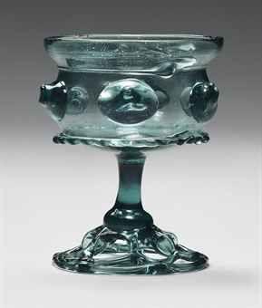 A STEMMED-GLASS (KRAUTSTRUNK), German, c.1500