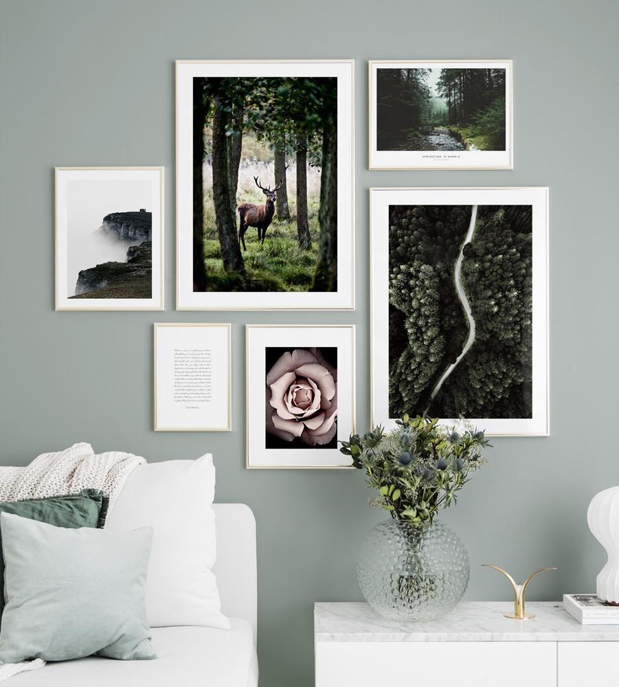 Wall Art Interior Inspiration Gallery Wall Posters Art Prints Bedroom Living Room Tavelvagg Inredning Inspirationsvagg