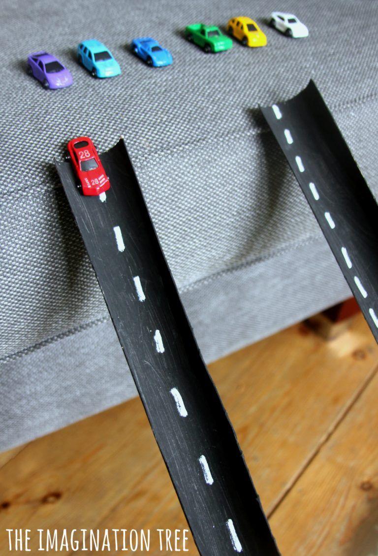 Cardboard Tube Car Ramps   Kid Zone   Pinterest   Cardboard tubes ...
