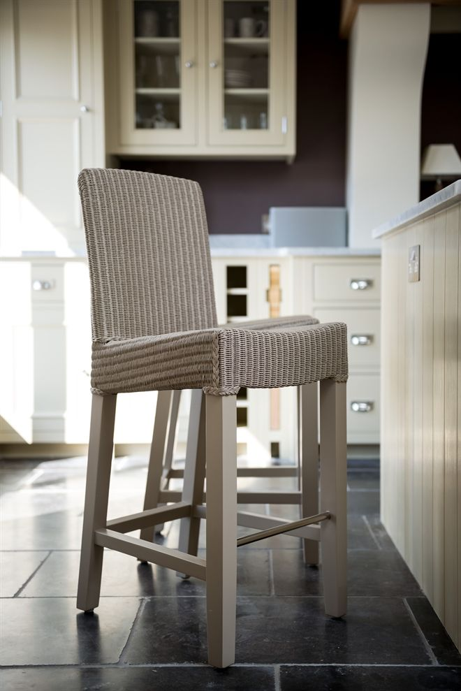 Neptune Dining Bar Stools Montague High Back Stool Pale Stone