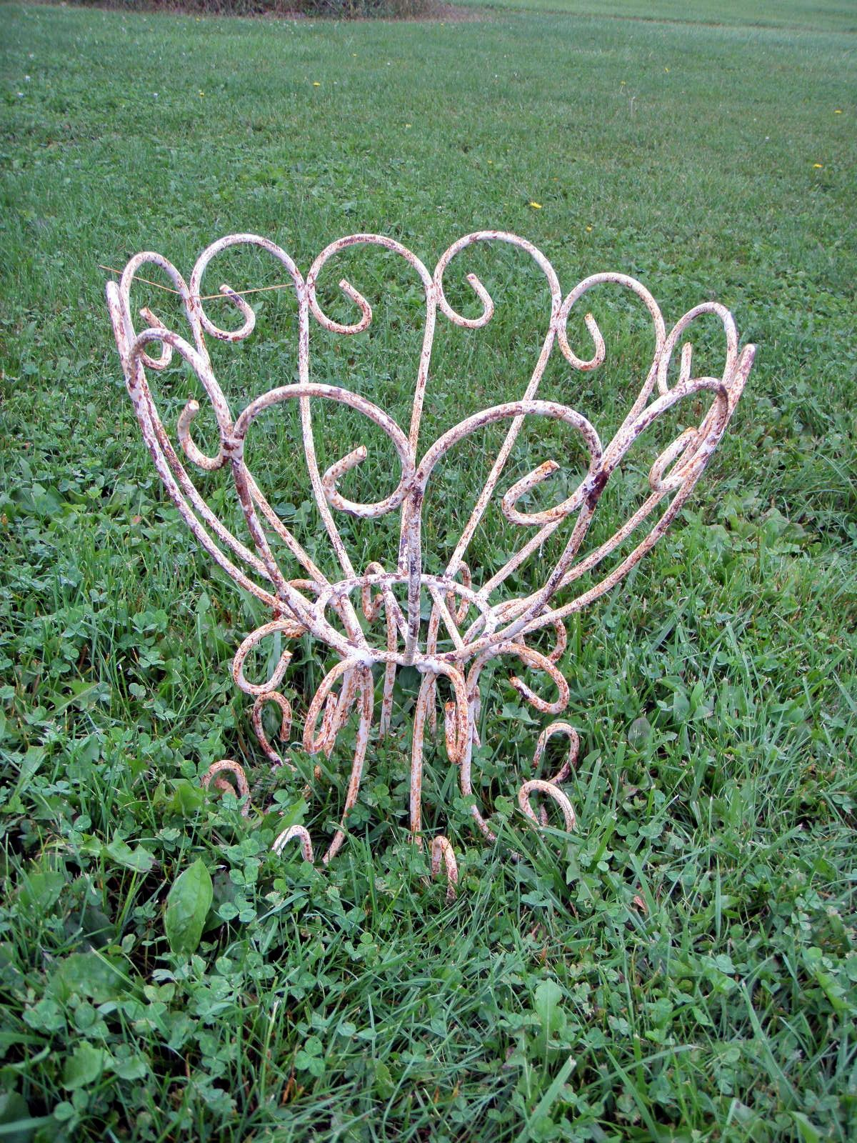 Wrought Iron Round Plant Stand Curly Style Pot Holder Metal
