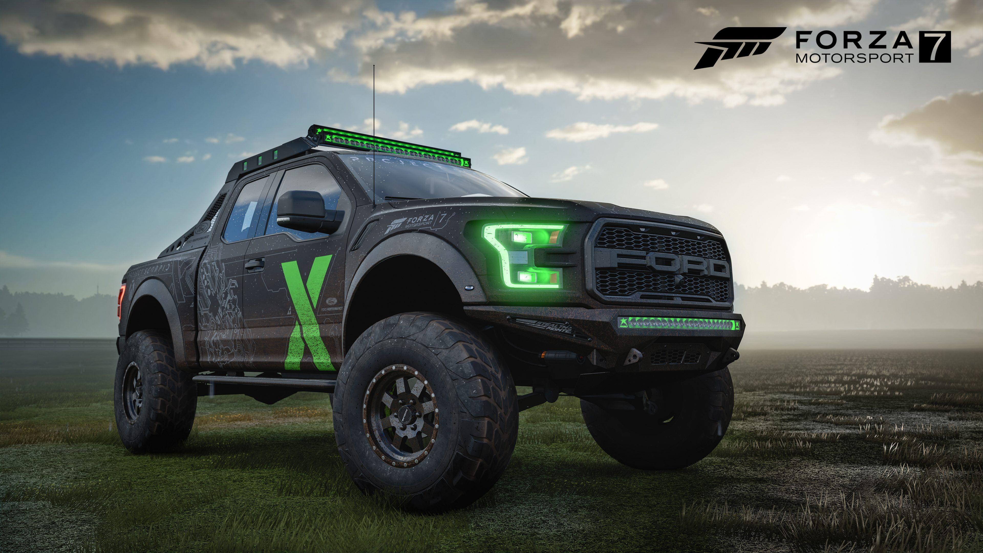 Forza Ford Raptor F150 Raptor Xbox Ford Car Truck Forza Motorsport 7 Video Game Art 4k Wallpaper Hdwallpaper Desktop Forza Motorsport Motorsport Forza