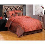 Nara 7-Piece Bedding Comforter Set, Red