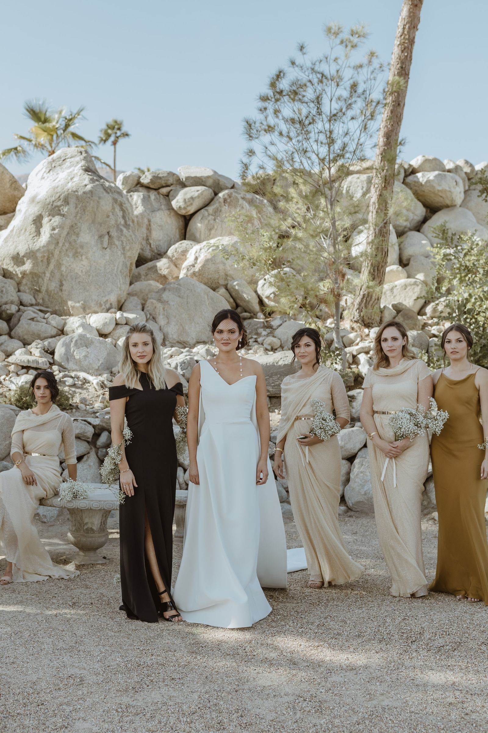 This Bridal Owner Wore Five Diffe Dresses For Her Palm Springs Wedding Harpersbazaar