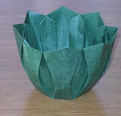 Origami Round Twist Box / Bowl Tutorial - Paper Kawaii - YouTube | 383x400
