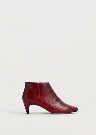 Snake Leather Ankle Boots Plus Sizes Boots Snake Leather