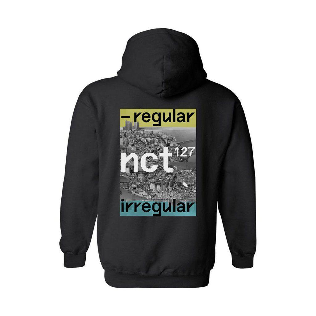 NCT 127 Regular-Irregular Black Pullover Hoodie in 2019  b0376ce1b2