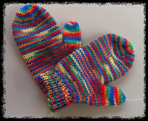 Smitten Mittens free pattern...I like how they are rounded ...