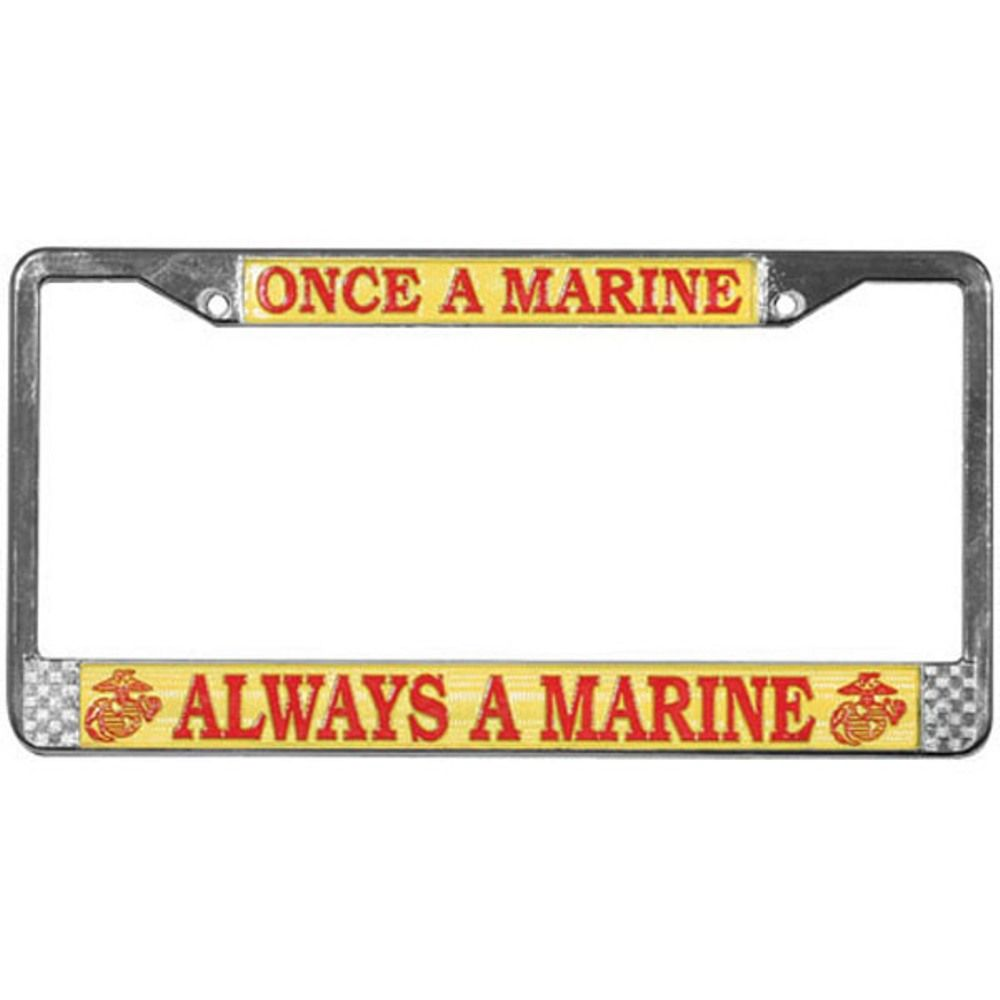 US Marine SEMPER FI Auto License Plate Frame USMC Eagle