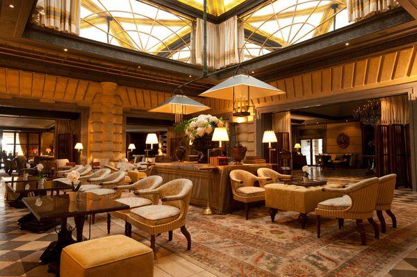 Lobby of the Hotel Metropole Monte-Carlo.