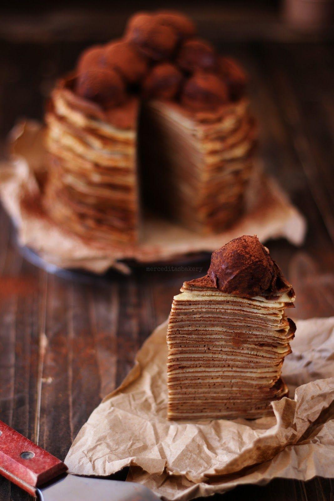 Merceditas Bakery Tarta De Crêpes De Café Y Baylis Tartas Crepes Comidas Dulces