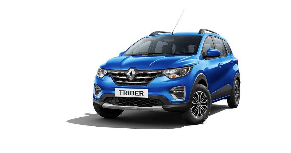 Renault Triber Colors Blue Orange White Red Silver Blue