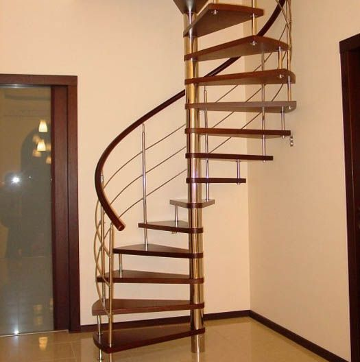 staircase-for-tight-spaces.jpg (525×528) | Spiral stairs ...