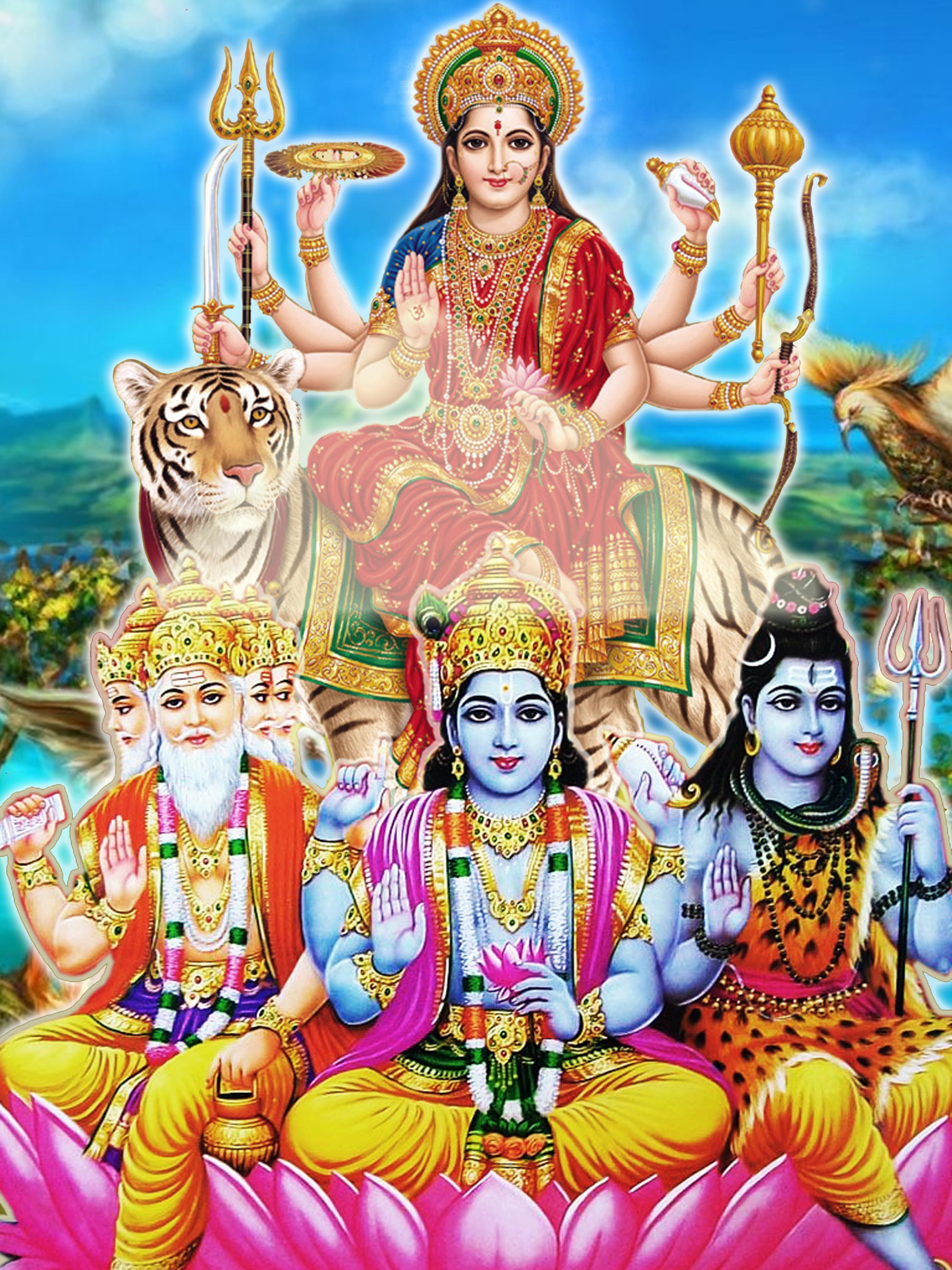 brahma vishnu shiva and durga