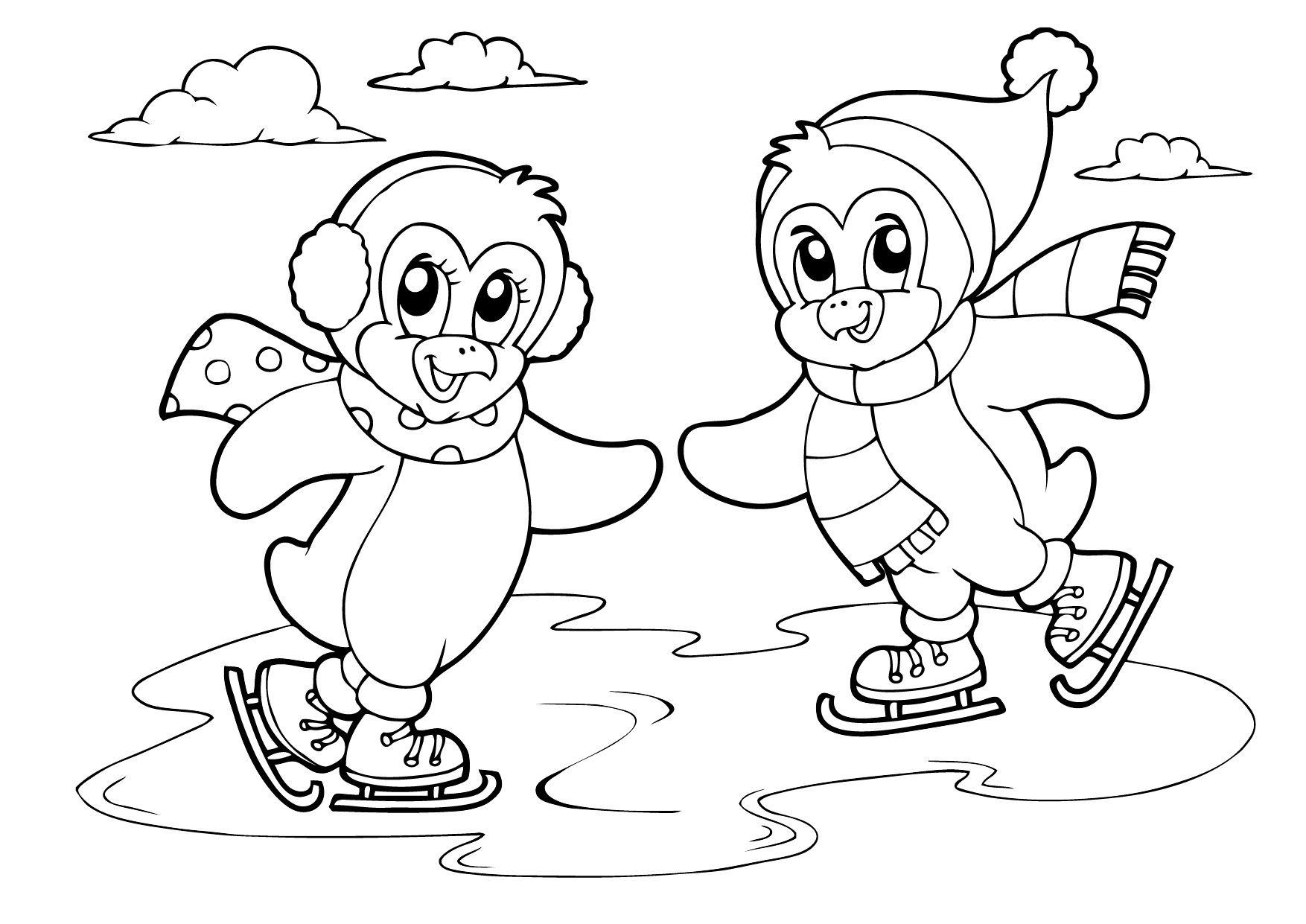 Интересные детские раскраски на тему: Зима | Trang trí