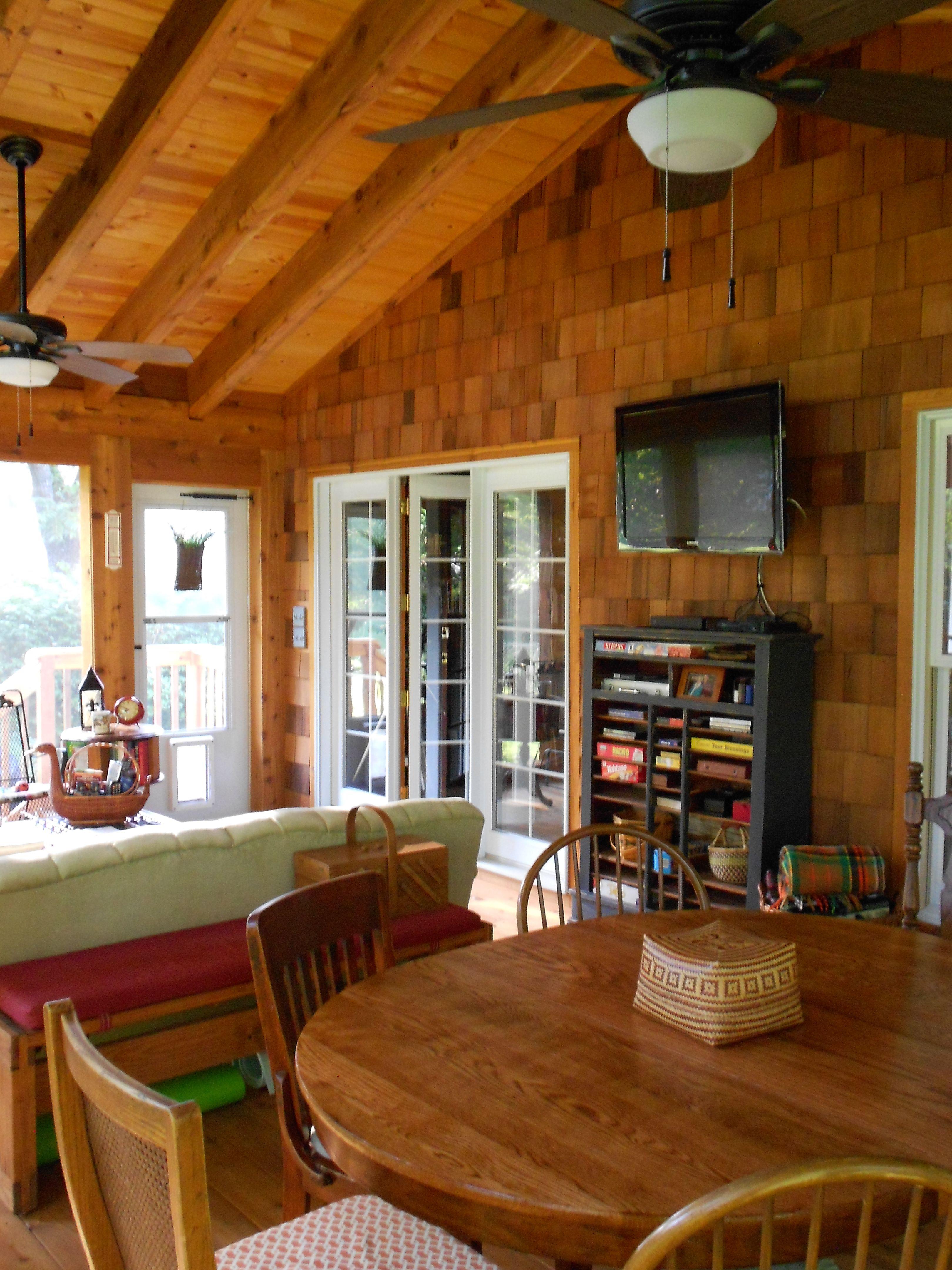 Best Cedar Shake Screen Porch Craftsman Porch Cedar Shake 400 x 300