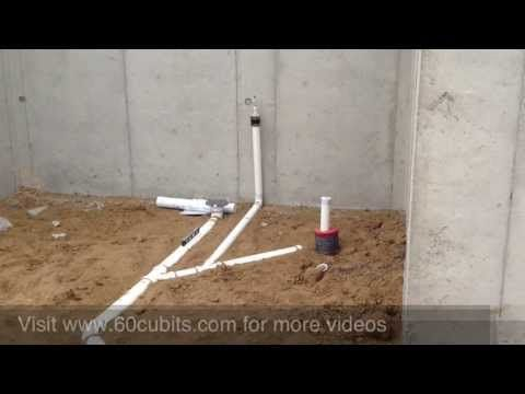 How To Plumb Basement Before Slab Poured Building A House