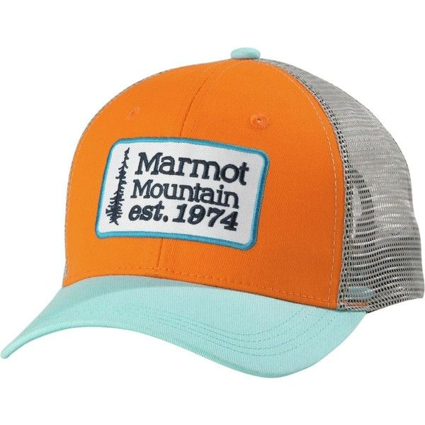 1943592348f Marmot Retro Trucker Hat ( 25) ❤ liked on Polyvore featuring men s fashion
