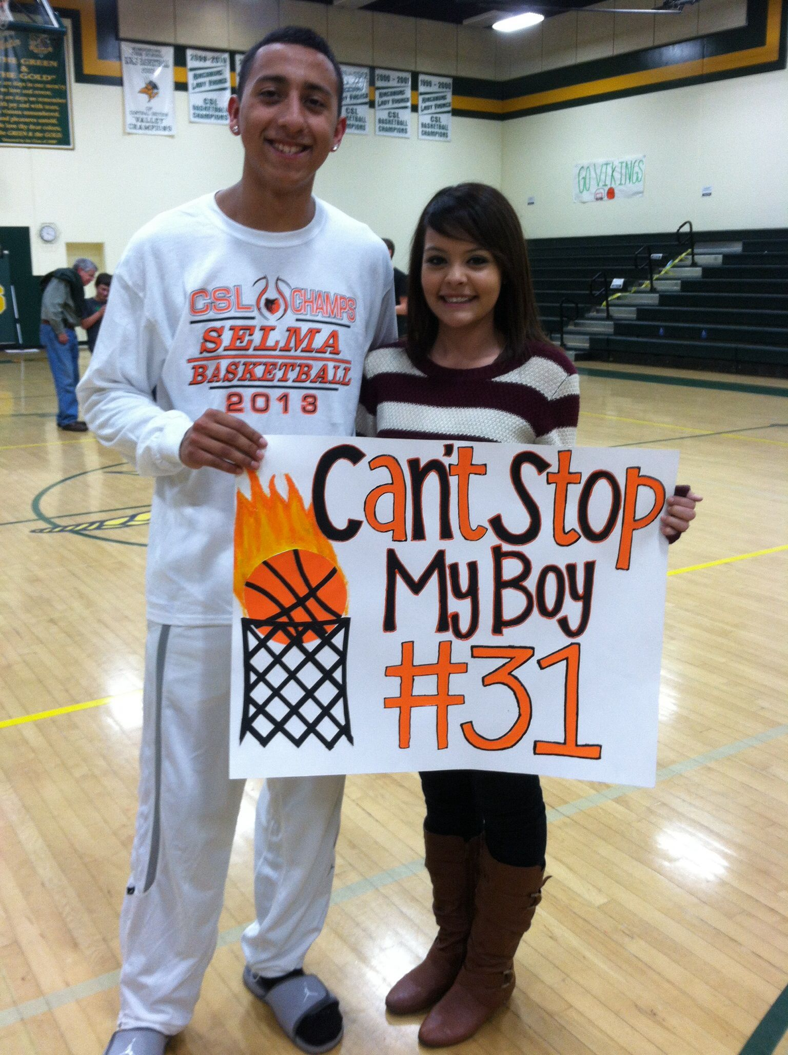 Cute basketball signs for your boyfriend