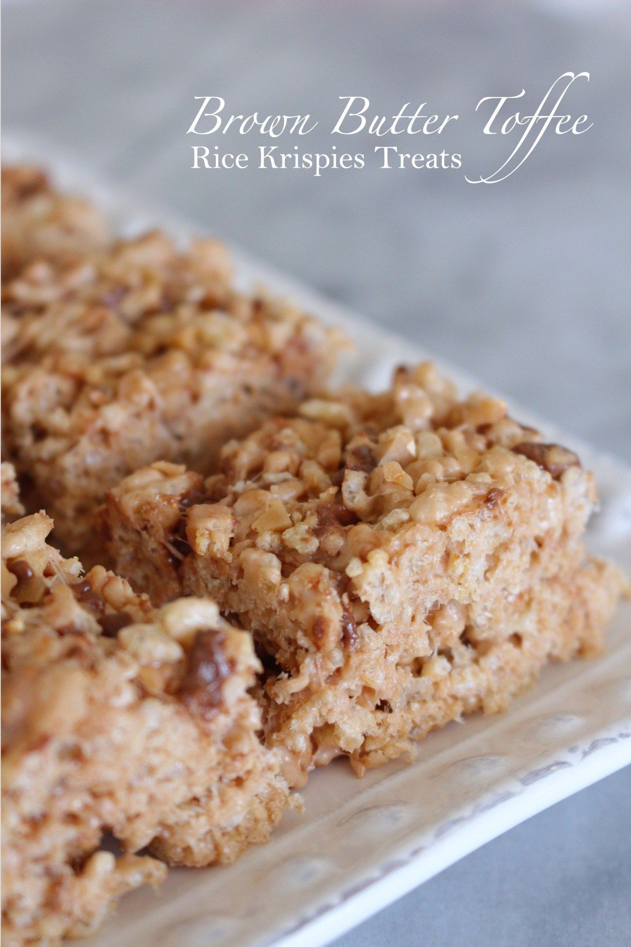 Photo of Brown Butter Toffee Rice Krispies Treats – Treats and Trends