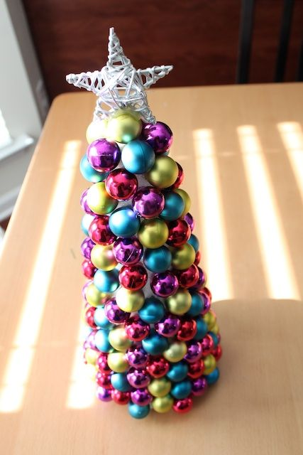 Make Your Own Ornament Mini Tree Perfect For The Office