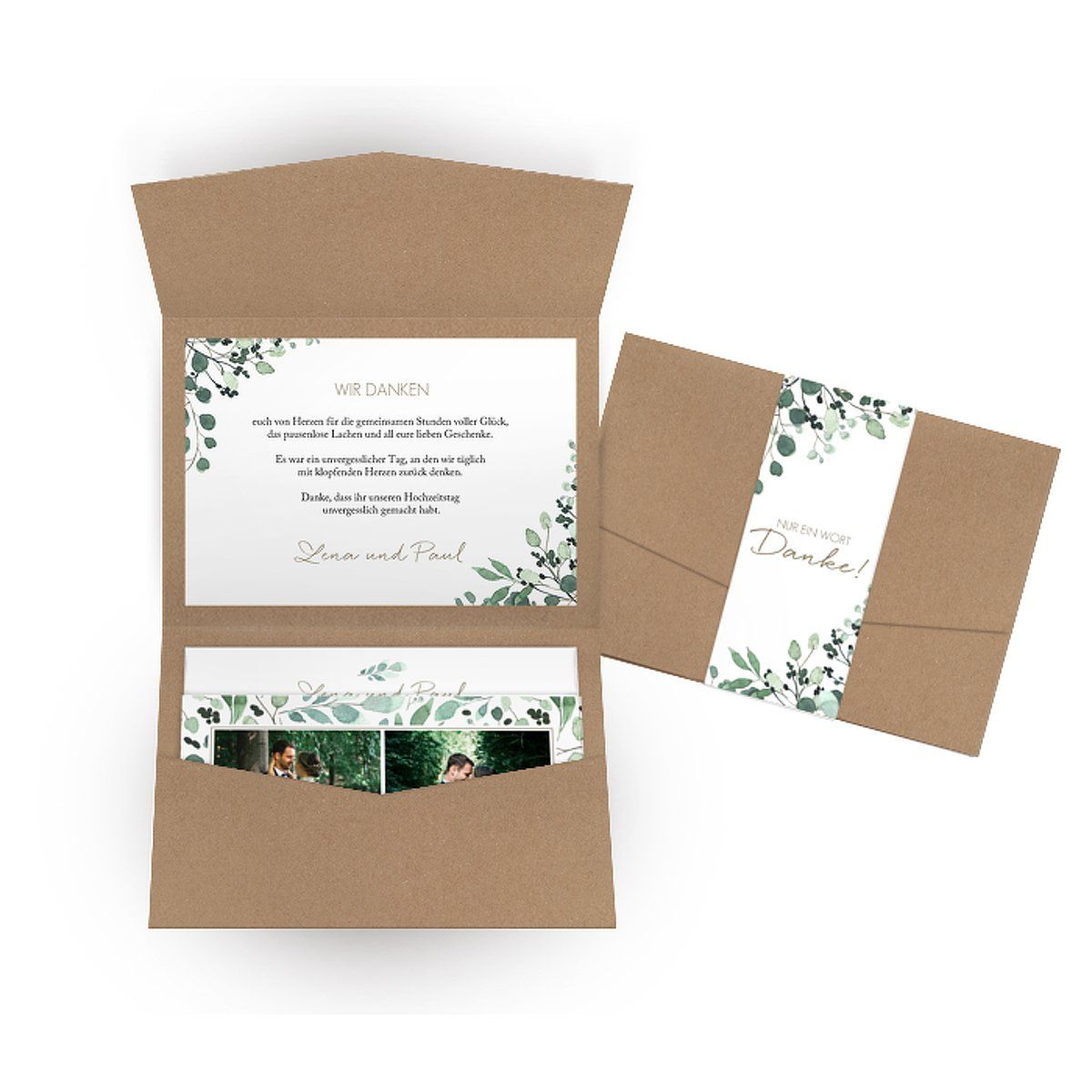 "Dankeskarte Hochzeit ""All The Greenery"""