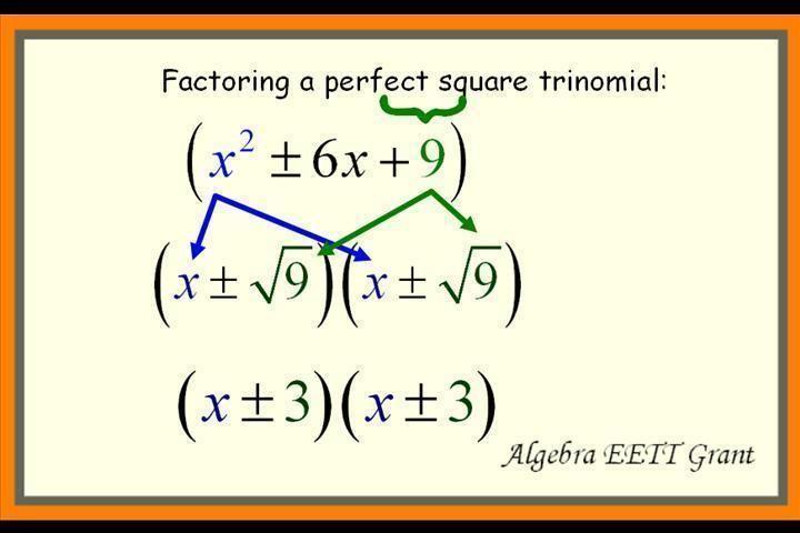 Practice problems: factoring perfect square trinomials | Algebra 1/2 ...