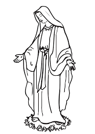 Dibujos Para Colorear De La Virgen Milagrosa Dibujos