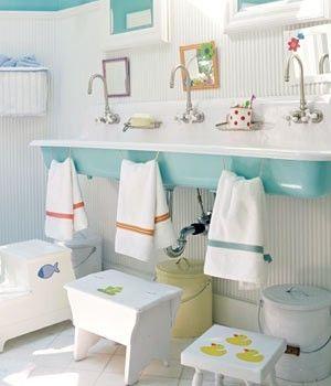 For the kiddos. bathroom.
