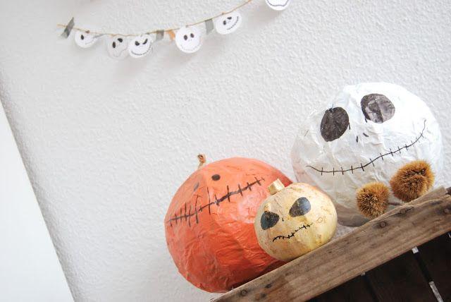 Manualidades fáciles de Halloween con niños: calabaza y Jack Skelton ...