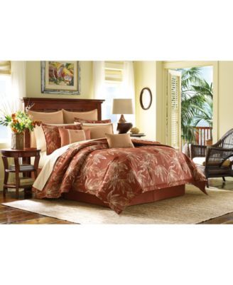 Tommy Bahama Home Caya Coco California King Comforter Set Red