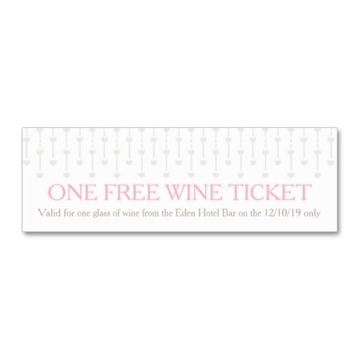 Bride and groom wedding free wine voucher card business card - make your own voucher