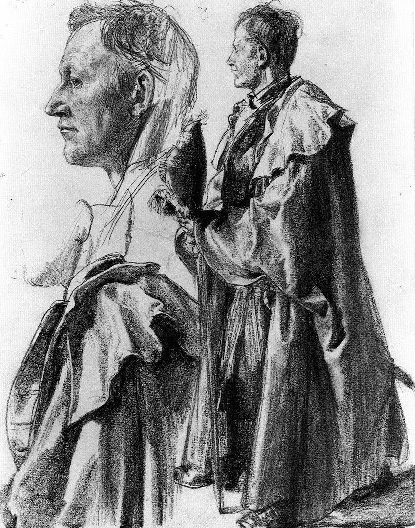 Study of a Model for an Officer, Adolph von Menzel